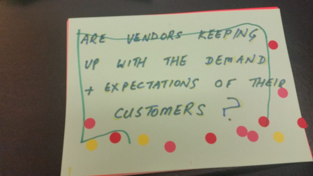 Are vendors keeping up with...