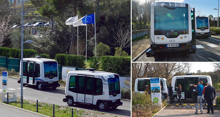 EasyMile delivers driverless shuttle service in Sophia Antipolis Business Park