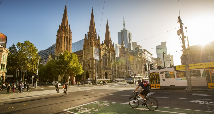 City of Melbourne's campaign to deter parked cars from blocking bike lanes