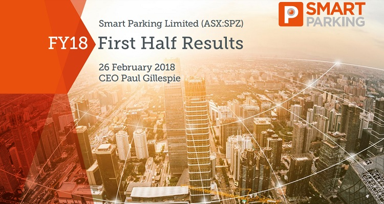 Smart Parking Limited announces FY18 First Half Results