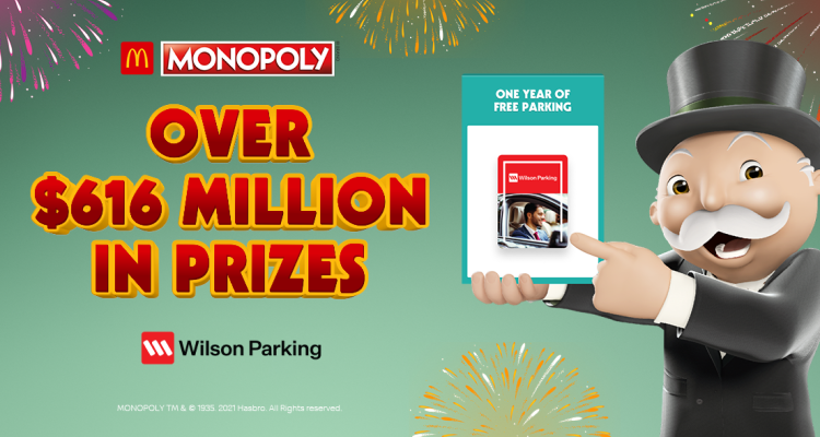 Wilson Parking announced as the official parking partner for McDonald's Monopoly